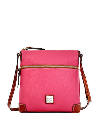 Dooney & Bourke Pebbled Leather Crossbody-HOT PINK-One Size
