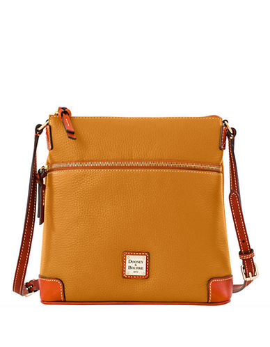 Dooney & Bourke Pebbled Leather Crossbody-CARAMEL-One Size