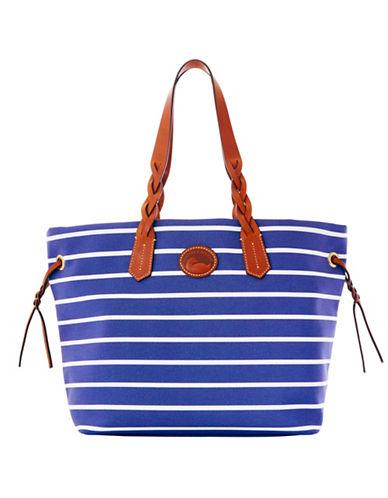 Dooney & Bourke Striped Eastham Shopper Tote-BLUE-One Size