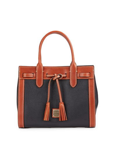Dooney & Bourke Colourblocked Leather Satchel-BLACK-One Size 88614076_BLACK_One Size