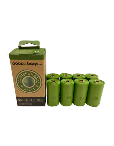 Original Poop Bags Count Down Rolls 120 Pack-GREEN-One Size