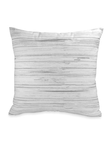 Dkny Loft Striped Cotton Cushion-GREY-16X16