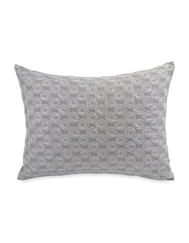 Dkny Loft Embroidered Cotton Cushion-GREY-16X16