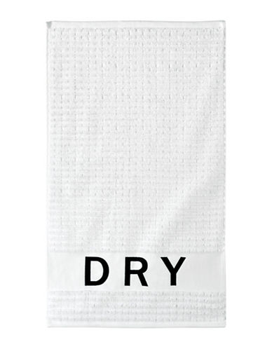 Dkny Chatter Cotton Hand Towel-WHITE-Hand Towel