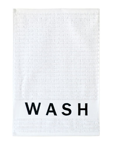 Dkny Chatter Cotton Tip Towel-WHITE-Finger Tip Towel
