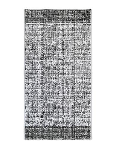 Dkny Crossway Cotton Tip Towel-BLACK/WHITE-Finger Tip Towel