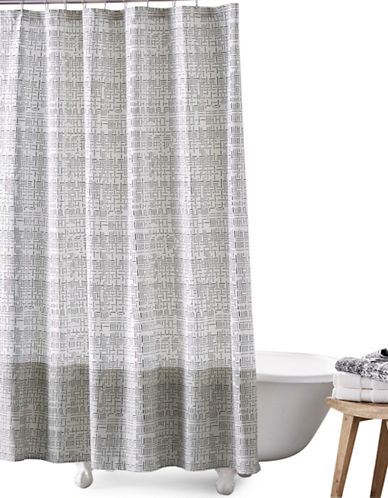 Dkny Crossway Cotton Shower Curtain-BLACK/WHITE-One Size