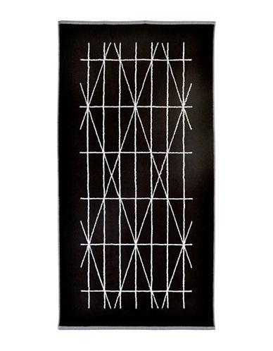 Dkny Geometrix Cotton Tip Towel-BLACK/WHITE-Finger Tip Towel