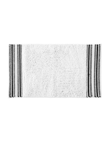 Dkny Check Please Cotton Bath Rug-WHITE-21x34