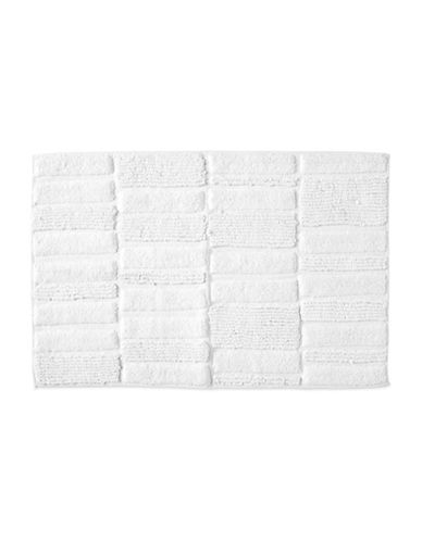 Dkny High Rise Cotton Bath Rug-WHITE-21x34