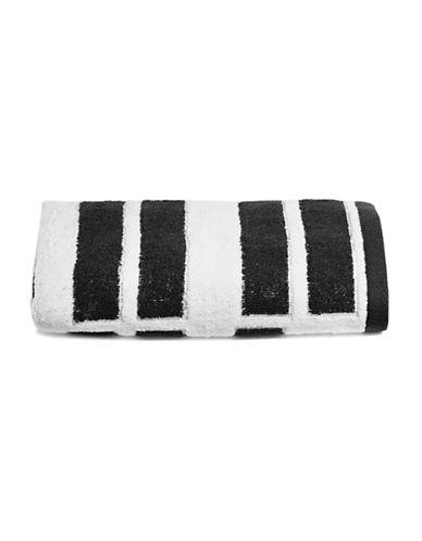Dkny High Rise Cotton Hand Towel-WHITE/BLACK-Hand Towel