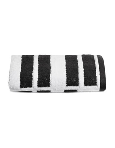 Dkny High Rise Cotton Tip Towel-WHITE/BLACK-Finger Tip Towel