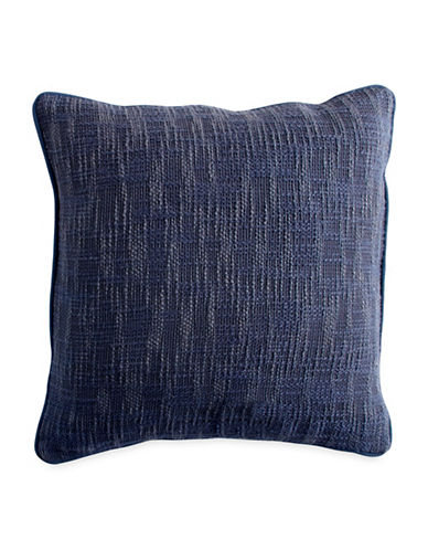 Dkny Pure Space Dye Textured Decorative Pillow-NAVY-18x18
