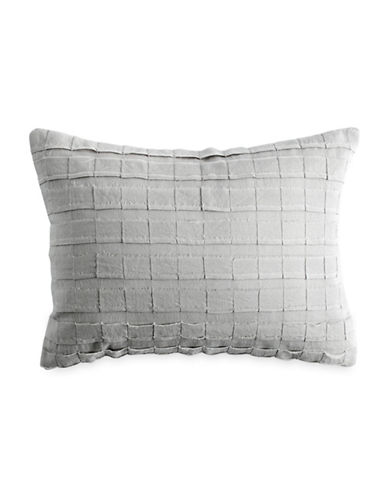 Dkny Applique Stripe Decorative Pillow-GREY-One Size