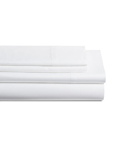 Dkny 500 Thread Count Cotton Four-Piece Sheet Set-WHITE-Queen
