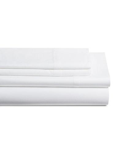 Dkny 500 Thread Count Cotton Four-Piece Sheet Set-WHITE-Queen