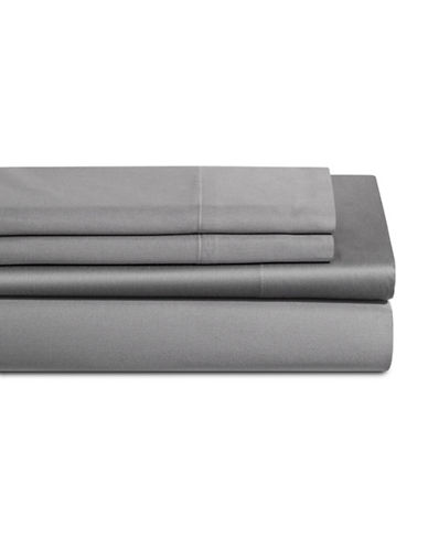 Dkny 500 Thread Count Cotton Four-Piece Sheet Set-GREY-Queen