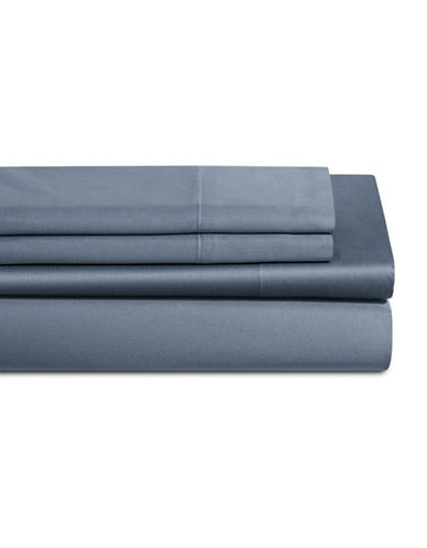 Dkny 500 Thread Count Cotton Four-Piece Sheet Set-BLUE-Queen