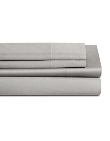 Dkny 500 Thread Count Cotton Four-Piece Sheet Set-SILVER-Queen