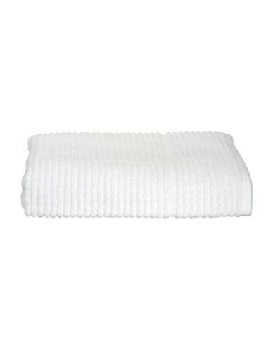 Dkny Quick Dry Grid Cotton Bath Towel-WHITE-Bath Towel