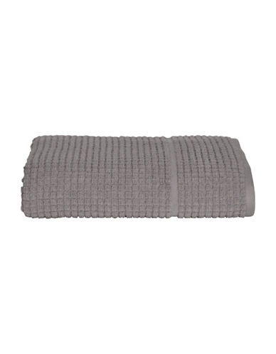 Dkny Quick Dry Grid Cotton Bath Towel-GREY-Bath Towel