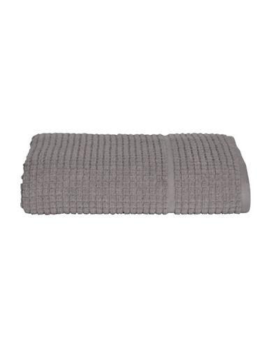 Dkny Quick Dry Grid Cotton Wash Towel-GREY-Washcloth