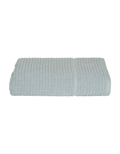 Dkny Quick Dry Grid Cotton Hand Towel-MIST-Hand Towel