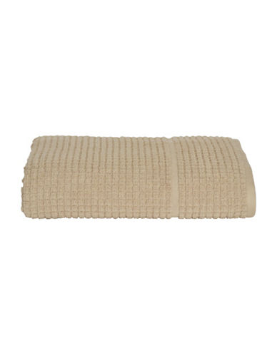 Dkny Quick Dry Grid Cotton Hand Towel-STONE-Hand Towel
