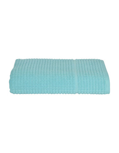 Dkny Quick Dry Grid Cotton Wash Towel-SKY-Washcloth