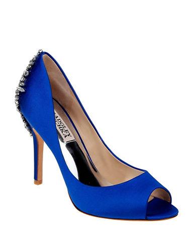 Badgley Mischka Nilla Satin Embellished Heels-SAPPHIRE-7