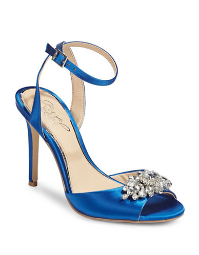 Jewel Badgley Mischka Hayden Jewelled Dress Sandals-BLUE-8.5