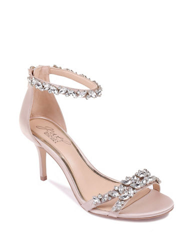 Jewel Badgley Mischka Caroline Satin Sandals-CHAMPAGNE SATIN-9.5