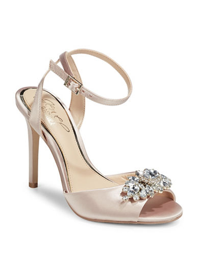 Jewel Badgley Mischka Hayden Jewelled Dress Sandals-CHAMPAGNE-7.5