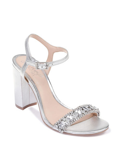 Jewel Badgley Mischka Hendricks Dress Sandals-SILVER-8.5