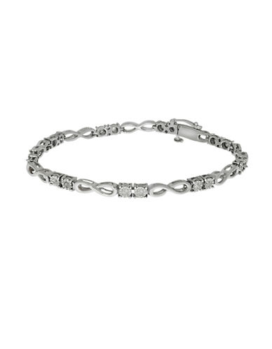Fine Jewellery Sterling Silver and 0.50TCW Diamonds Infinity Links Tennis Bracelet-SILVER-One Size