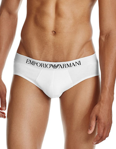 Emporio Armani Underwear Stretch Briefs-WHITE-X-Large