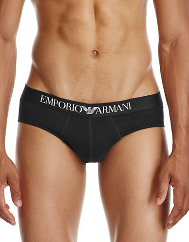Emporio Armani Underwear Stretch Briefs-BLACK-X-Large