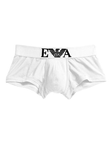 Emporio Armani Underwear Stretch Trunks-WHITE-X-Large