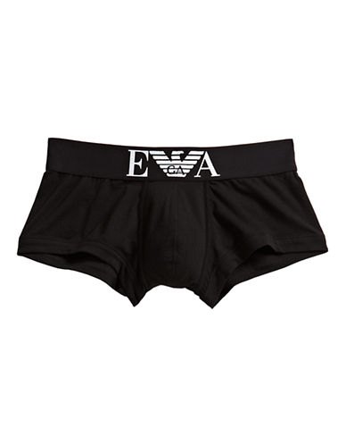 Emporio Armani Underwear Stretch Trunks-BLACK-X-Large