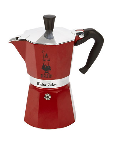 Bialetti 6-Cup Moka Express Stovetop Coffeemaker-RED-One Size
