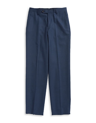 Lauren Ralph Lauren Glen Check Dress Pants-BLUE-12