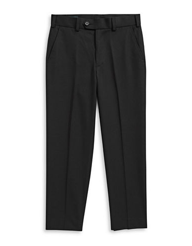 Lauren Ralph Lauren Twill Dress Pants-BLACK-5