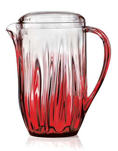 Guzzini Iris Ombre Ripple Pitcher-RED-One Size