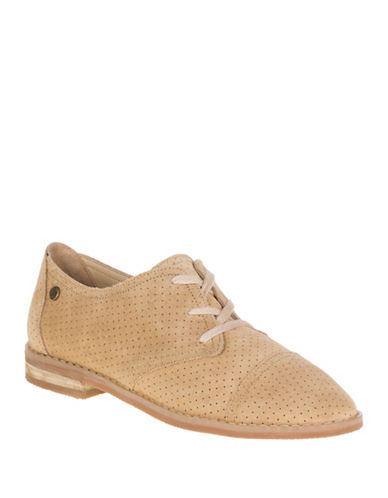 Hush Puppies Aiden Clever Suede Oxfords-LIGHT TAN-10