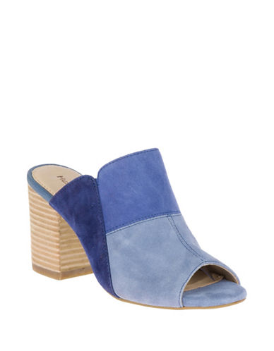 Hush Puppies Sayer Malia Suede Mules-BLUE SUEDE-8.5
