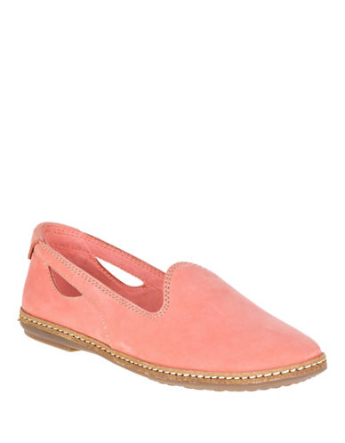 Hush Puppies Sebeka Piper Leather Flats-CORAL-8