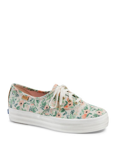 Keds Womens Wallpaper Floral Sneakers-NATURAL-8
