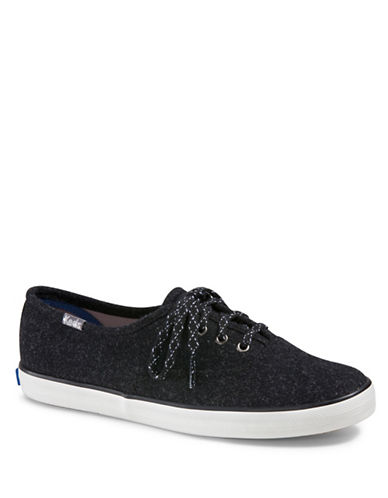Keds Champion Lace-Up Sneakers-BLACK-9