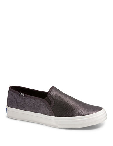 Keds Womens Double Decker Slip-On Sneakers-GREY-8
