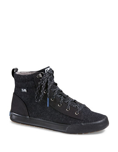 Keds Wool Ortholite Topkick Sneakers-BLACK-6
